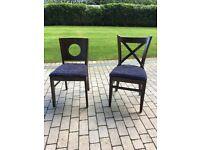 2 X brand new dinning chairs.