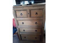 Corona Dark Pine Tall Chest Of Drawers