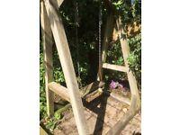 Wooden garden swing needs some repair and tlc