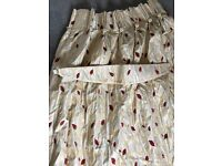 Beautiful red and cream curtains