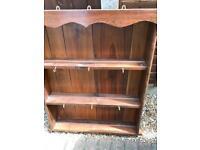 Solid wood shelves