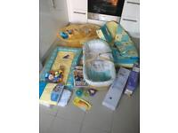 Winnie The Pooh baby stuff, Moses basket and other items