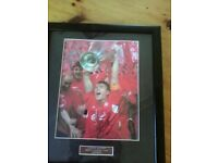 Steven Gerrard limited edition signed photo