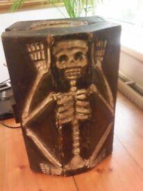 Vintage Carved Skelton Chest