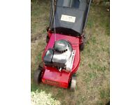 PETROL LAWNMOWER, CHAMPION,SELF PROPELLED, WITH GRASS BOX.