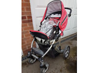BRITAX B-SMART PUSHCHAIR RED AND BLACK IN REASONABLE CONDITION
