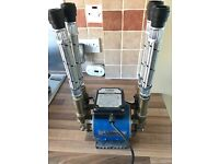 Wickes 2 bar brass twin impeller shower pump - good working order, with 22mm push-fit connections