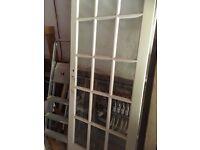 Interior glass paned door