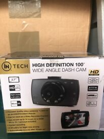 in Tech High Definition HD Wide Angle Dash Cam Camera