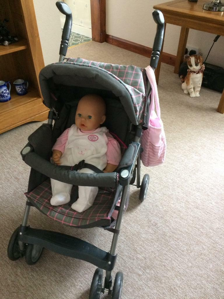 Silver cross buggy with baby Annabell