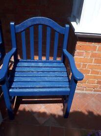 Heavy duty garden chairs x2