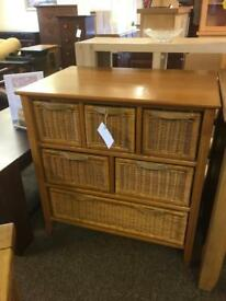 Chest of wicker drawers * free furniture delivery *