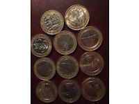 Rare £2.00 coins and rare 50 pences for sale