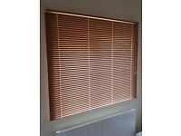 Oak colured metal venetian blinds for patio doors (set of two) - bought from Hillary's.