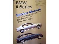 BMW 5 SERIES (E39) SERVICE MANUALS 1997-2002 VOLUMES 1 & 2 BY BENTLEY PUBLISHERS