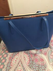 Stunning royal blue authentic Ted baker large tote bag