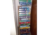 vhs videos ,over 20 in total, lagely disney or other animated