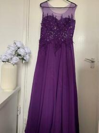 Beautiful Purple sleeveless embellished maxi dress