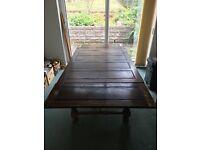Wooden oak table