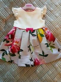 Baby girls ted baker dress 9-12 months like new