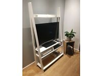 """White Ladder Style TV Entertainment Unit: £40 SUITABLE FOR MAX 42"""" TV"""