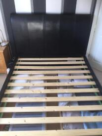 Sleigh bed (frame only)