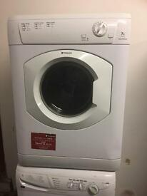 White tumble dryer evented hot point 7kg