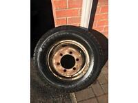 Ldv ford wheel rim and tyre mint tread 185/14