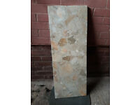 Marble hearth slab
