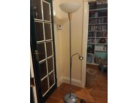 Ikea tall uplighter lamp with side reading lamp