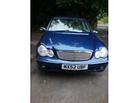 Mercedes Benz C180 Elegance, 1998cc, Automatic, petrol - an old girl in need of rehoming!