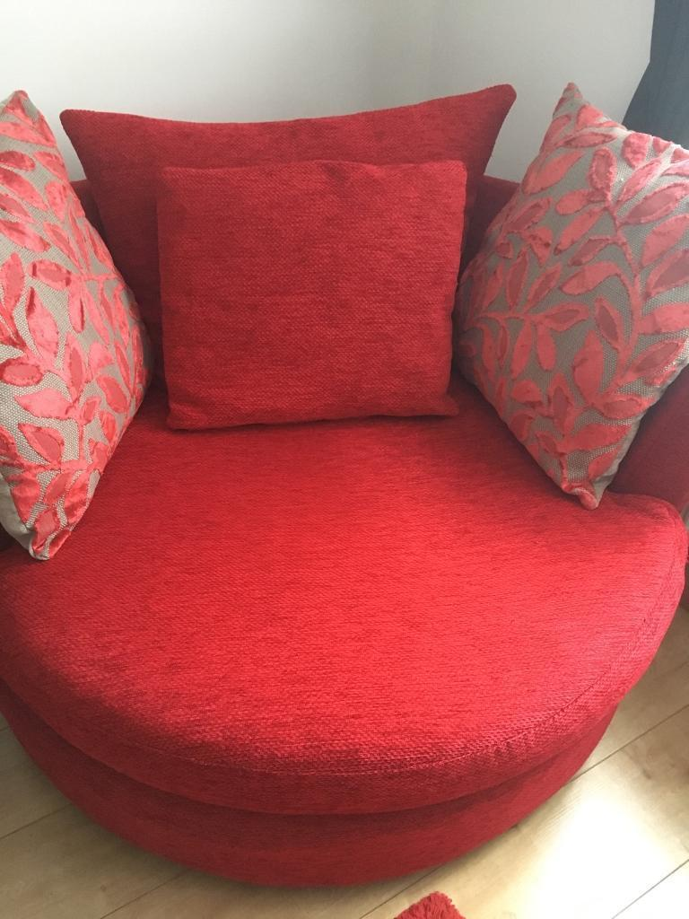 Two Seater Cuddle Swivel Chair