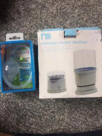 Brand new baby nasal aspirator and steriliser in box