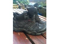 ONLY WORN ONCE! Adidas walking/hiking boots size 7