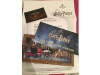 ** HARRY POTTER WARNER BROS STUDIOS 2x TICKETS