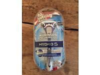 x16 (a box of) Brand New Wilkinson Sword Hydro 5 Razors (Incl. x1 head as per pic)