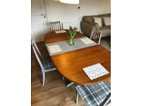 Reclaimed Grey and Oak table and chairs