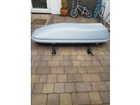 Halfords 360l roof box with roof bars hardly used like new £100
