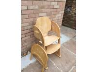 Mothercare adjustable chair high chair