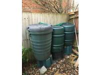 3x 250 litre water butts