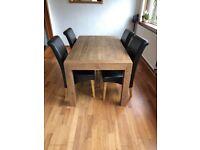 Real oak dining set