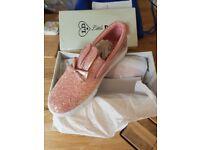 Girls glittery shoes