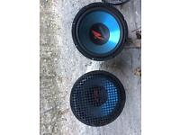 Two kenwood 400w subwoofers