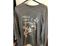 Hollister grey jumper ( thin summer