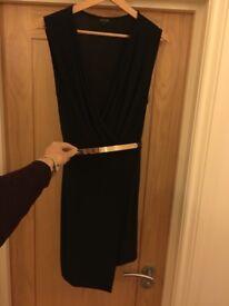 River Island Black Wrap Dress Size 12