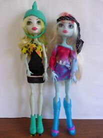 Lagoona Blue and Abbey Monster High Doll Toy Bundle