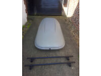 Halfords Roof Box & Thule Roof Bars.