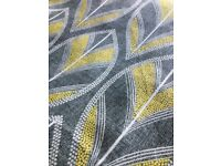 Heavy lined grey/ yellow curtains 90x90 perfect condition