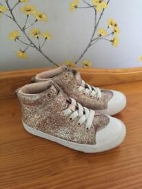 As new glitter high tops size 9