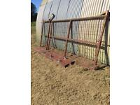 12ft HEAVYDUTY COMMERCIAL GATE WITH SIDE GATE AND POSTS